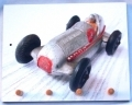 Classic toy racing car key holder, Brooklands gift